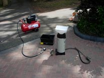 Paving sealer equipment